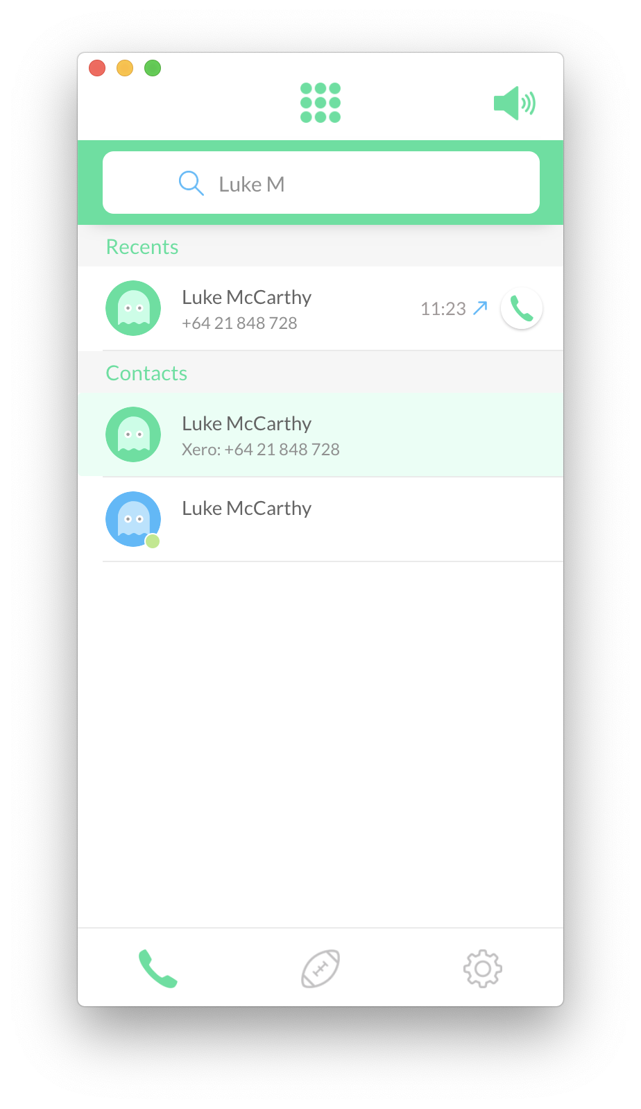 Single Click-To-Call