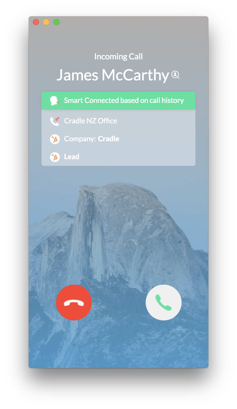 Cradle Smart connect screenshot