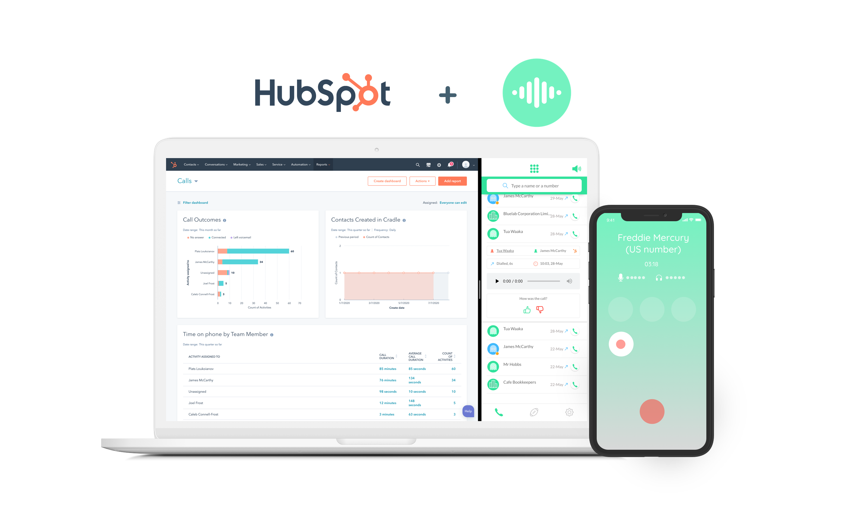 Cradle integration with HubSpot