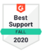 G2 Reviews best support badge for Cradle