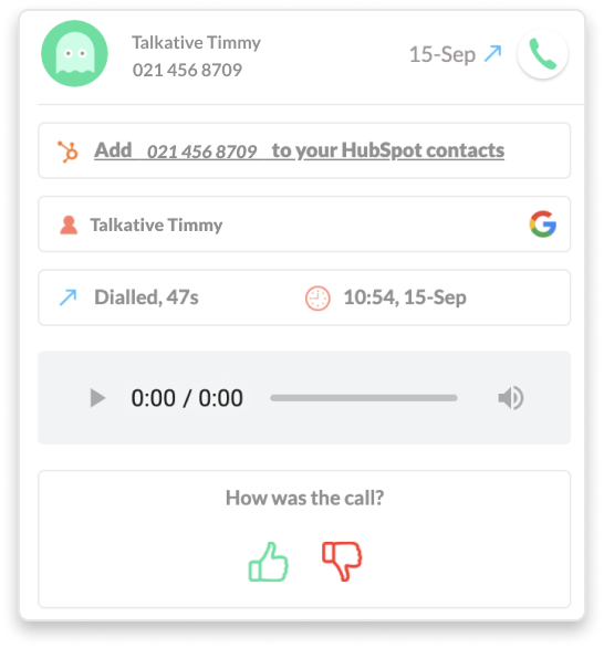 Shared contacts with Cradle cloud based phone system accross HubSpot, Google, Office 365 and Xero